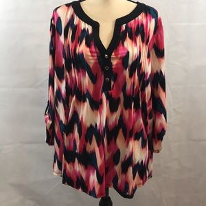 NWT Women's 3X blouse with 3/4 sleeves